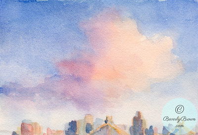 Pink Clouds & 59th St. Bridge  - Beverly Brown Artist
