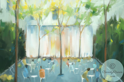 Paley Park NYC - Beverly Brown Artist