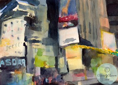 Times Square Billboards  - Beverly Brown Artist