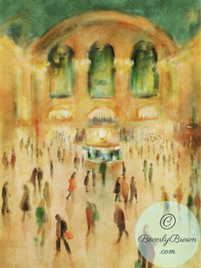 Rush Hour Grand Central Terminal - Beverly Brown Artist