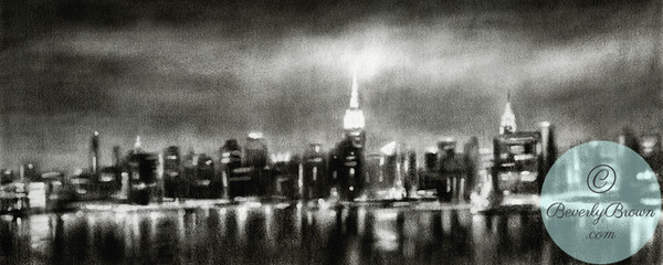 Black and White NYC Skyline Art - Beverly Brown Artist