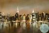 NYC Skyline Gold, Blue, Pink - Beverly Brown Artist
