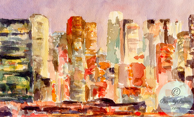 Midtown at Dusk  - Beverly Brown Artist