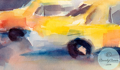 Taxi cabs  - Beverly Brown Artist