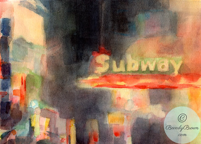Subway 42nd Street  - Beverly Brown Artist