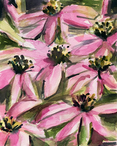 Purple Coneflowers - Beverly Brown Artist