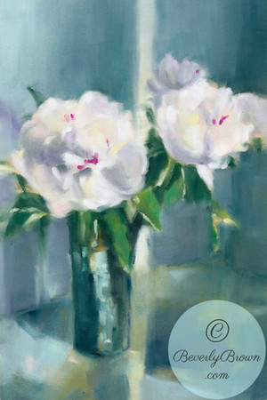 White Peonies - Beverly Brown Artist