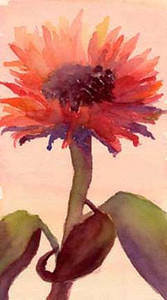 Red sunflower  - Beverly Brown Artist