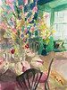Cherry Blossoms in Green Interior - Beverly Brown Artist