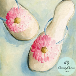 Flip flops  - Beverly Brown Artist
