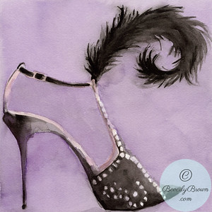 Black evening shoe  - Beverly Brown Artist