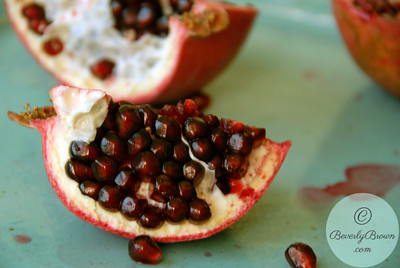 Pomegranates Three Quarters