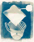 Tea and Teacup - cyanotype.