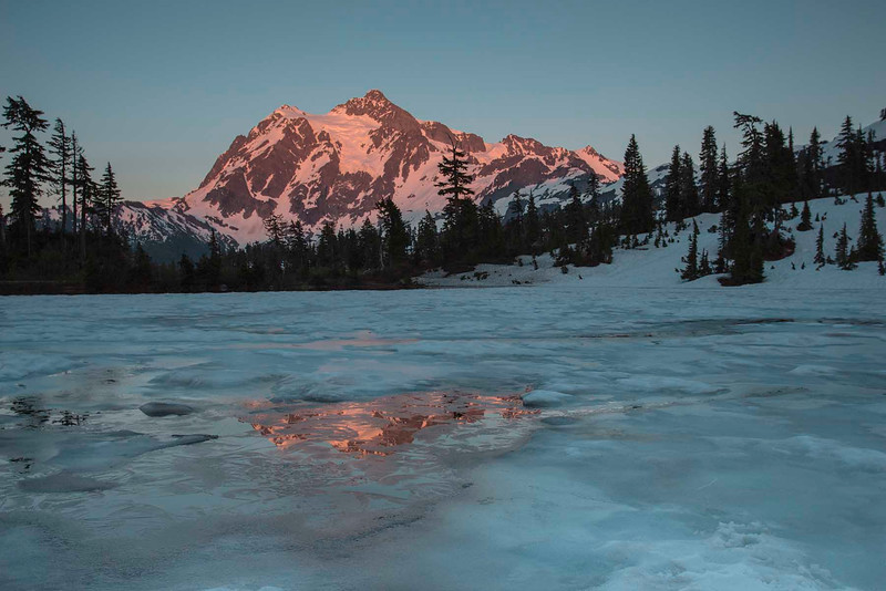 Sunset on Mt Shuksan, North Cascades, Washington