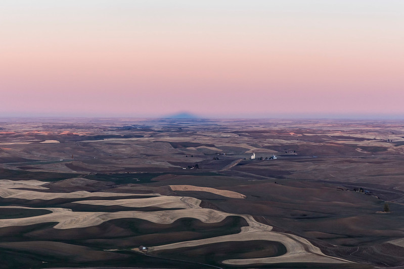 Sunrise, Shadow of Steptoe Butte (looking west), Eastern Washington