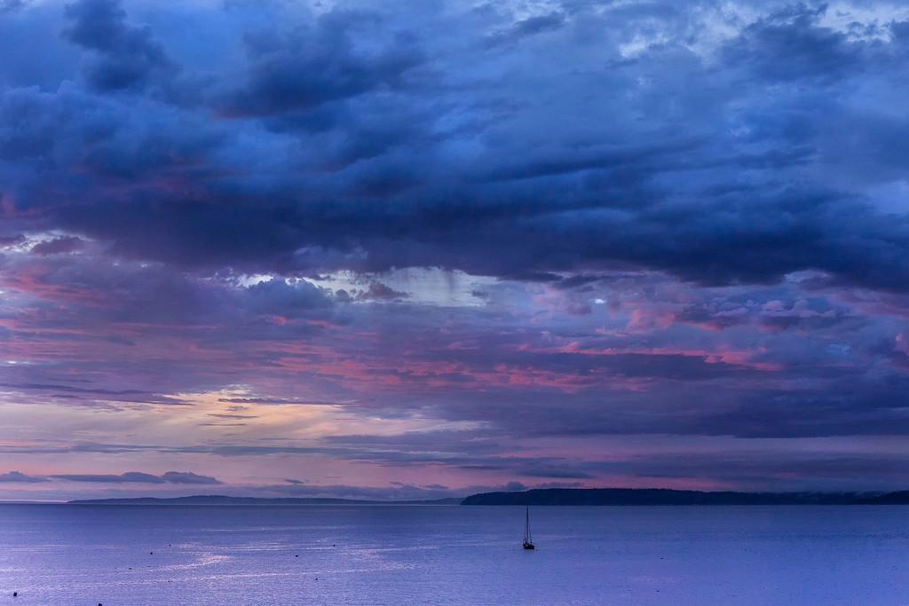 Anchored off Edmonds at Sunset, WA