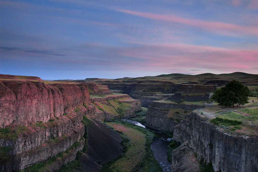 Palouse Falls Canyon, Sunset, E Washington