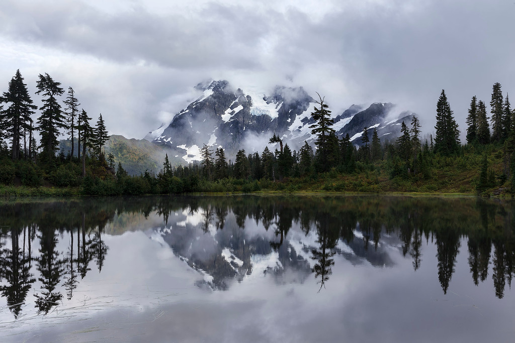 Mt Shuksan and Picture Lake, Washington
