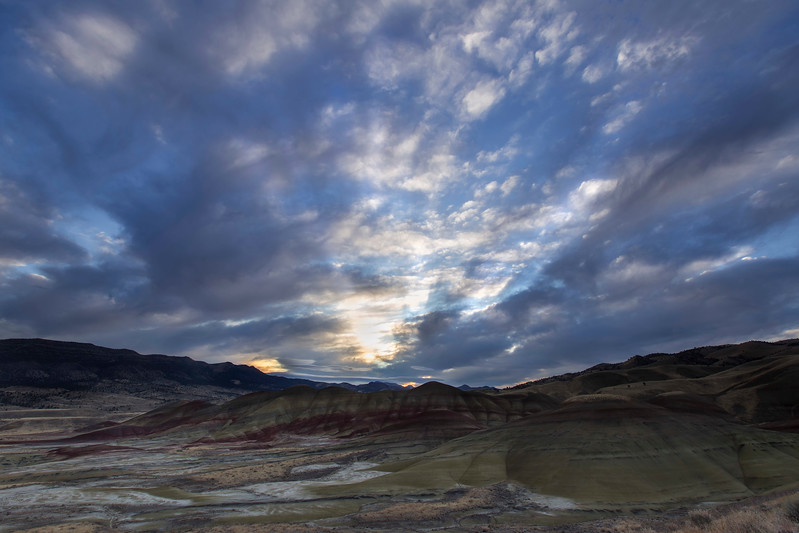 Sunrise, Painted Hills Unit, John Day National Monument, Oregon