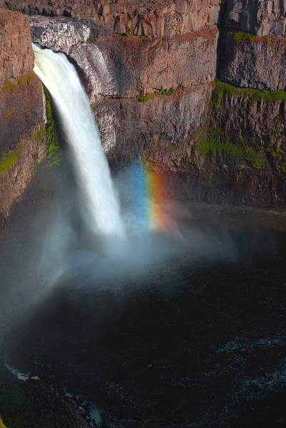 Rainbow at Palouse Falls, Palouse Falls State Park, Washington
