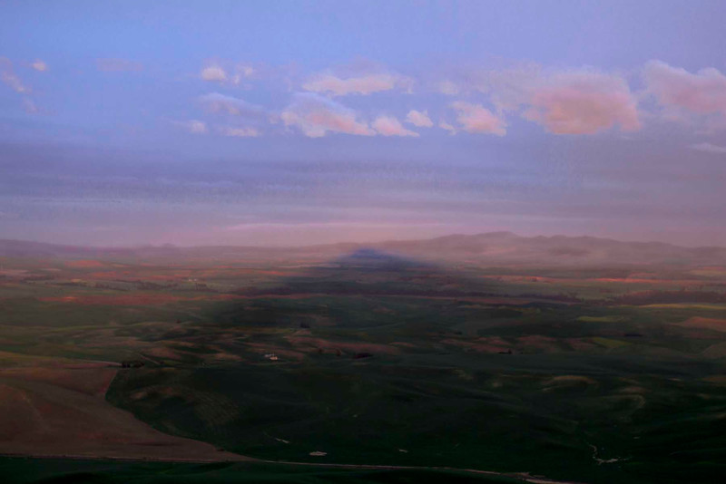 Sunset shadow of Steptoe Butte, Palouse Country, E Washington