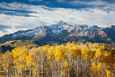 """The Glory of Fall""  Wilson Massif, a trio of fourteen-thousand-foot tall peaks near Telluride. Taken in the Uncompahgre National Forest, Colorado, USA."