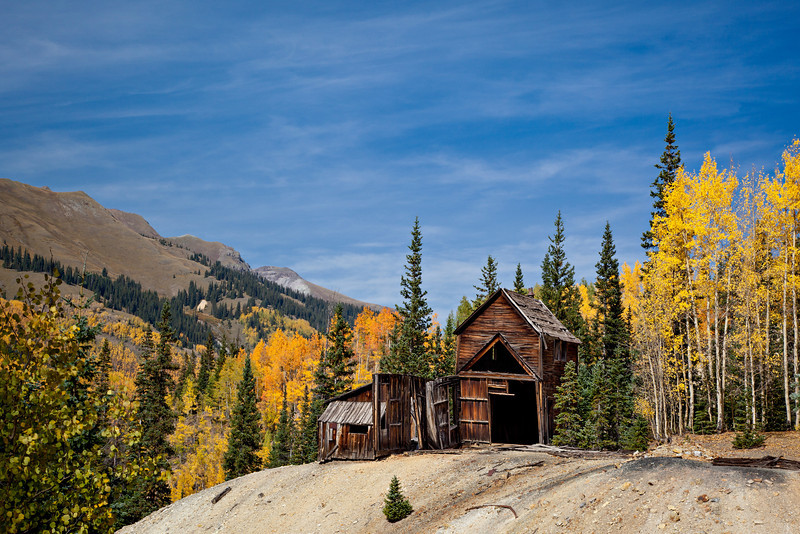 An historic mine in the Red Mountain Mining District. Taken in Ouray County, Colorado, USA.