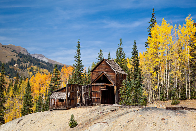 """""""Back In the Day""""<br /> <br /> An historic mine in the Red Mountain Mining District. Taken in Ouray County, Colorado, USA."""