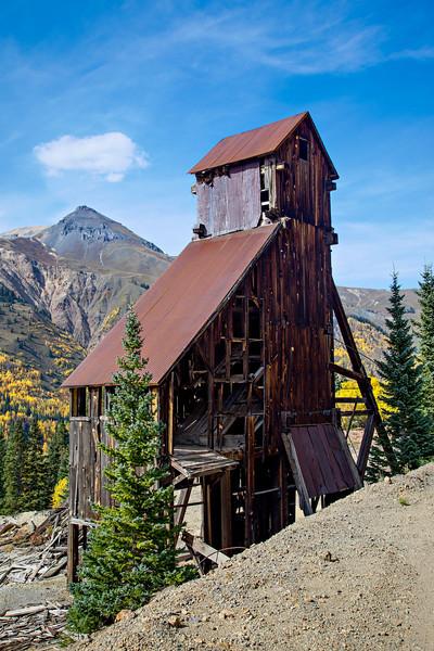 The Yankee Girl Mine, near the Million Dollar HIghway, Ouray County, Colorado, USA.