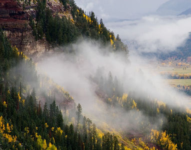 """Life in the Clouds"" Near Telluride, Colorado on a day when the weather was constantly changing.   We recommend ordering this image in the 11 x 14"" size. It has been pre-cropped to fit that aspect ratio."