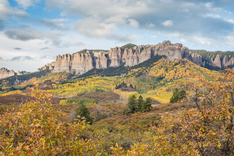 The palisades of Owl Creek Pass. Taken in the Uncompahgre National Forest, Colorado, USA.
