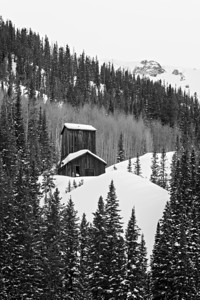 """Mine In Winter""  An historic mine along Red Mountain Pass in the San Juan Mountains, Colorado, USA."