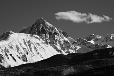 """""""Wintry Sneffels""""  Mt. Sneffels, in the San Juan Range of Colorado, USA."""