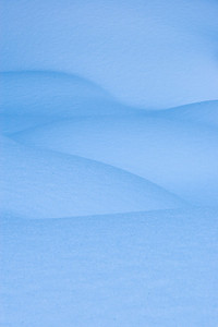 """Nude in Snow II""  Castlewood Canyon in Douglas County, Colorado. There I found that multiple, deep snows had drifted to form these voluptuous shapes."