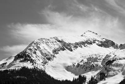 """Winter in the San Juans""  Hazelton Mountain, part of the Kendall Mountain Complex of the San Juan Mountains. Taken outside Silverton, Colorado, USA."