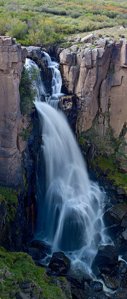 """North Clear Creek Falls Pano""<br /> <br /> This is a vertical panoramic of North Clear Creek Falls. The waterfall is located near Creede, in the Rio Grande National Forest, Colorado, USA."