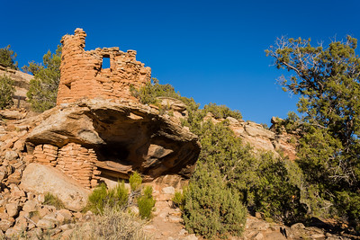 Ruins at Painted Hand Pueblo. Taken in Canyons of the Ancients National Monument, Colorado, USA.