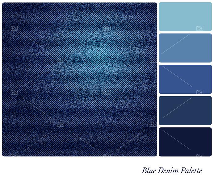 Blue denim palette