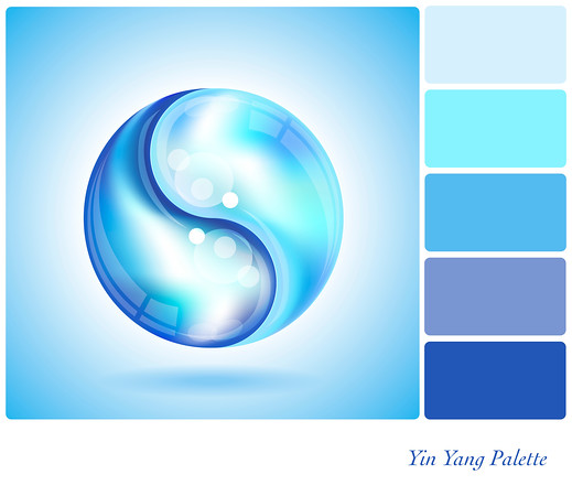 Yin Yang water drop palette