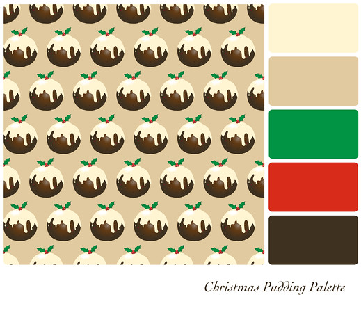 Christmas pudding palette