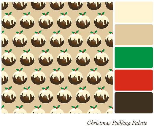 Christmas pudding palette