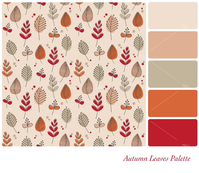 Autumn Leaves palette