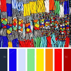 African beads palette