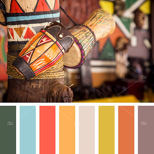 African drums palette