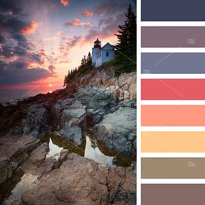 Bass Harbor Lighthouse palette