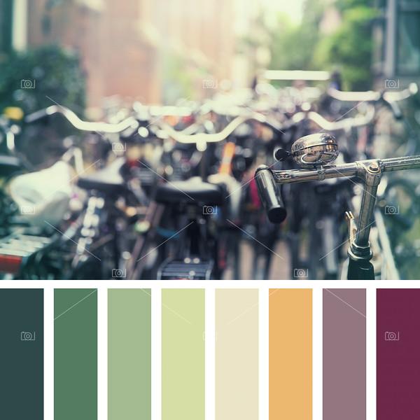 Amsterdam bikes palette