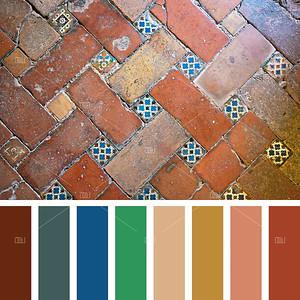Alhambra floor palette