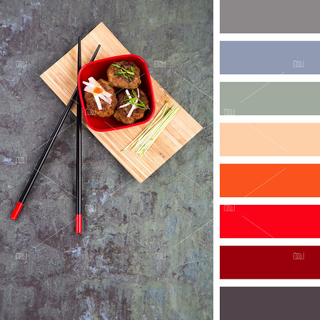 Asian meatball palette