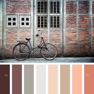 Bike in old Amsterdam palette