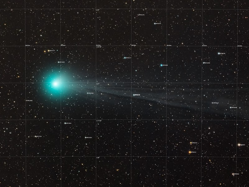 Comet Lovejoy 2015-01-15 annotated